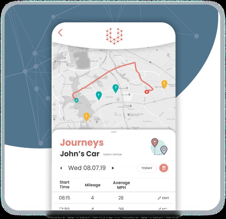 Switch App screenshot of journey log